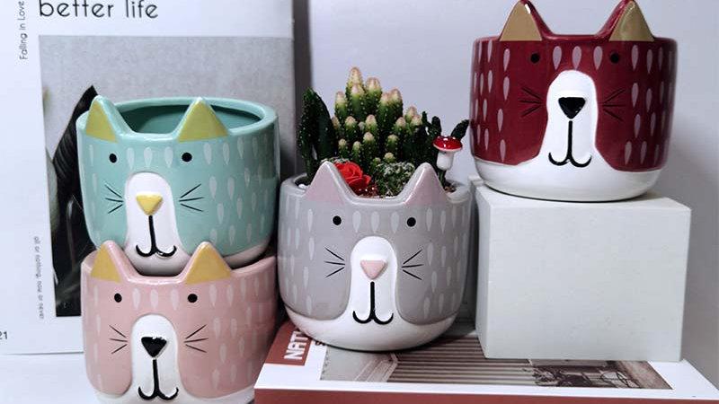 Creative Cat Flower Pot