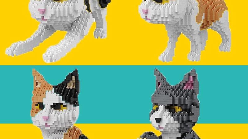 Diamond Building Blocks Cat Lego