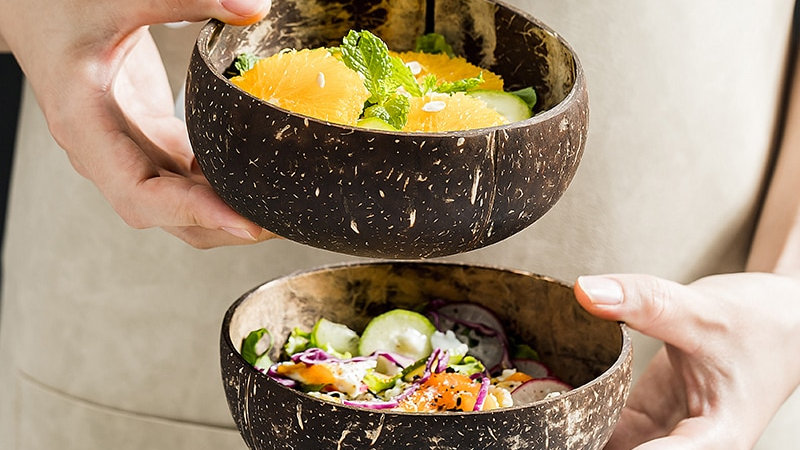Natural Coconut Wood Bowl