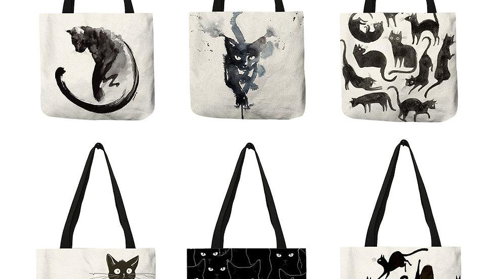 Stylish Kitty Tote Bags