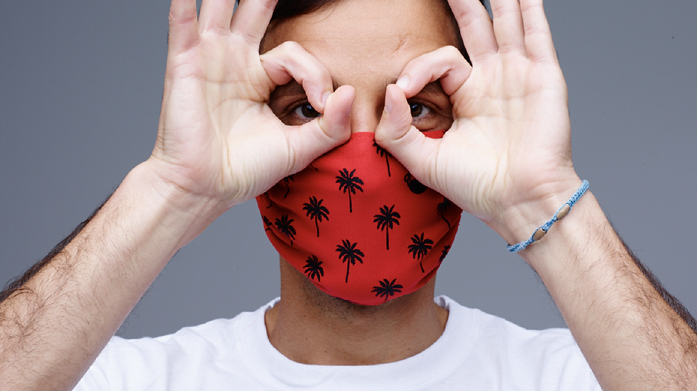 Red Palm Tree Face Mask