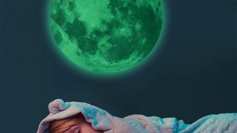 3D Luminous Moon Wall Sticker