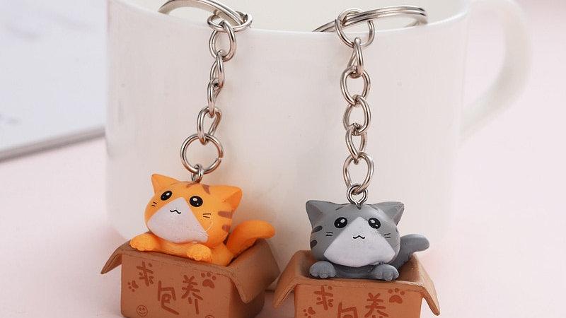 Box Kitten Keyrings