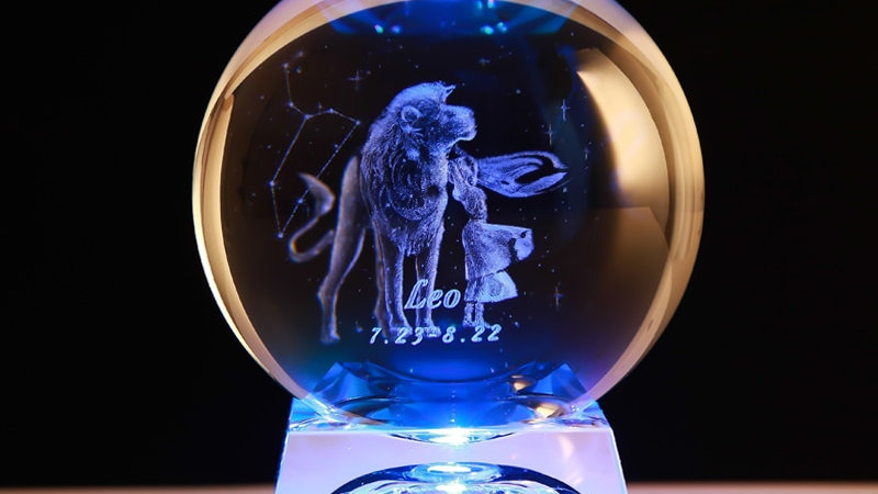 3D Zodiac Sign Star Crystal Ball Laser