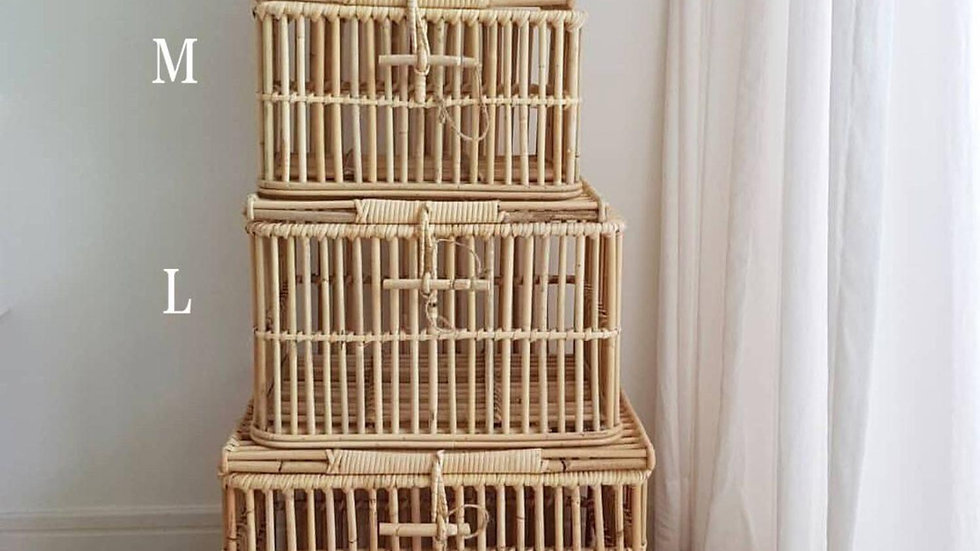 Hand-Woven Rattan Storage Box