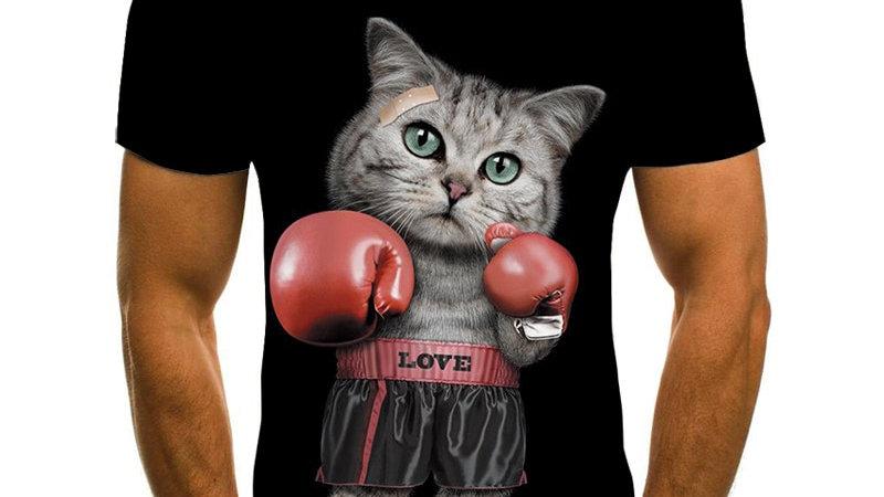 Men's Funny Animal Print T-shirts