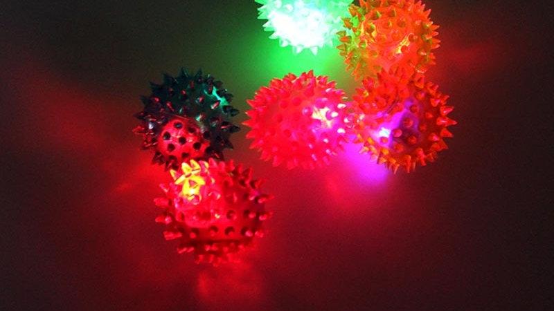 Flashing Light Up Spikey Massage Ball