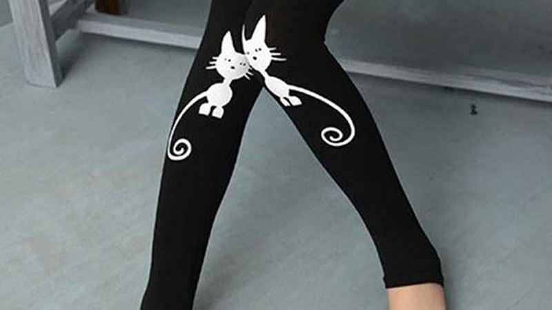 Girl's Kitty Leggings