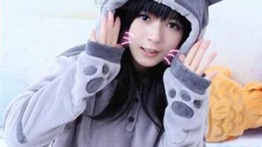 Cat Ear Pullover Hooded Sweatshirt