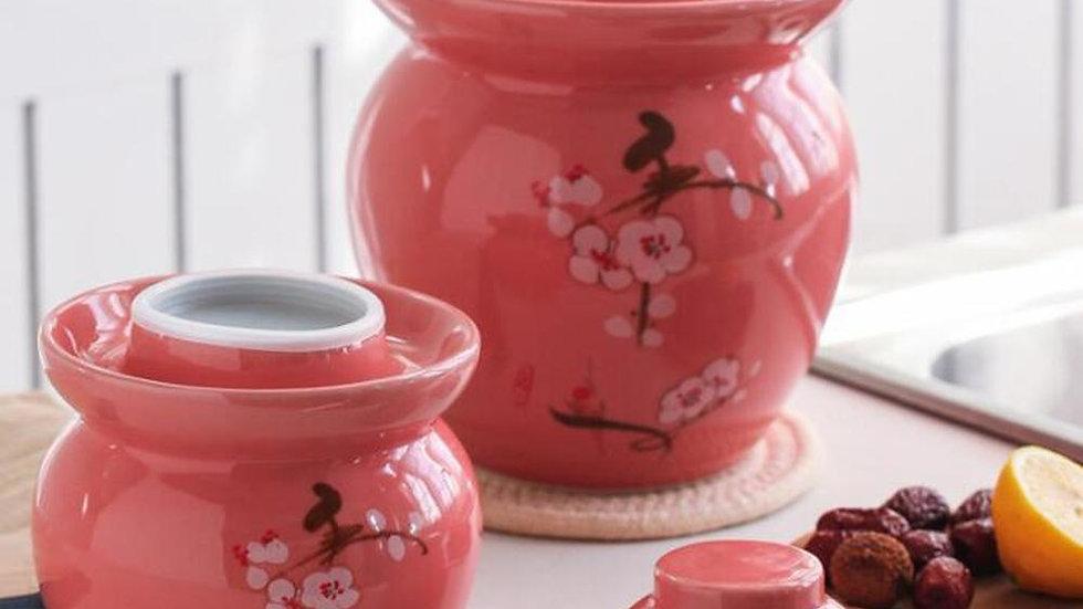 Cherry Blossom Storage Jars