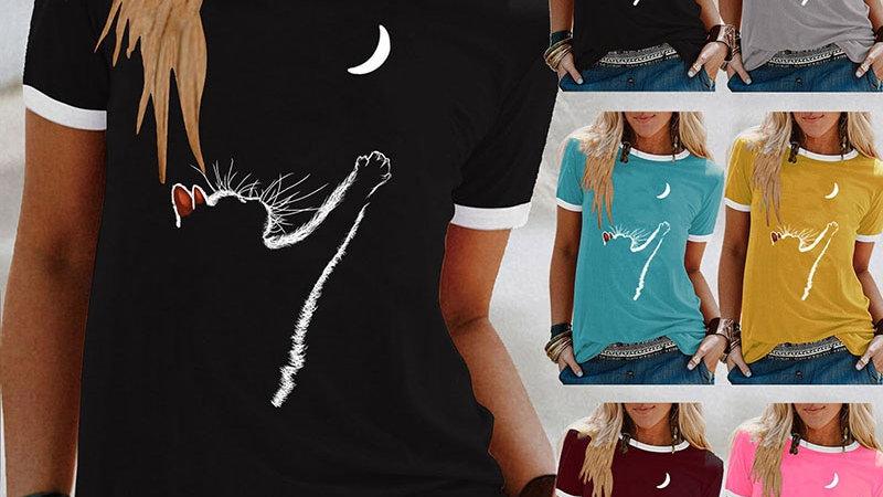 Women's Cat Short Sleeve T-Shirts