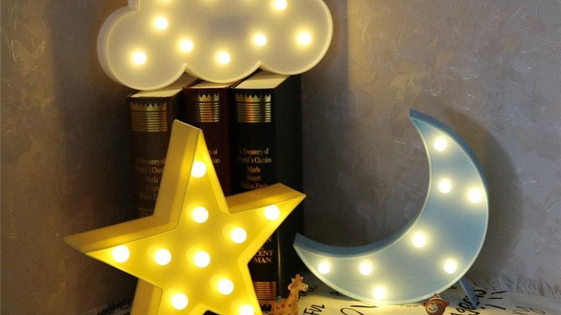 LED Cloud/Star/Moon Lights