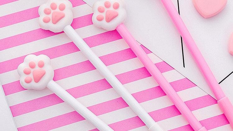 1Pc Cat Paw Gel Pen