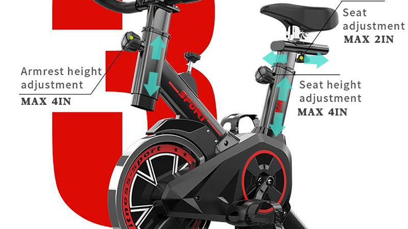 Indoor Exercise Bike Weight Loss Folding Spinning Bike