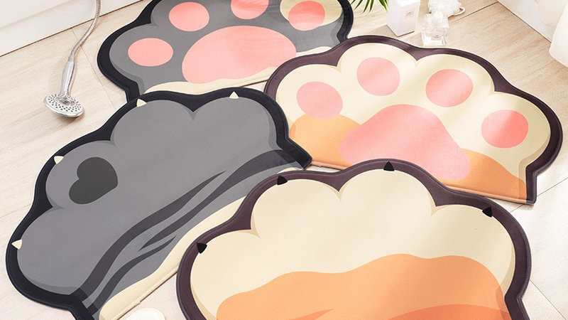 Creative Cartoon Cat Paw Doormat