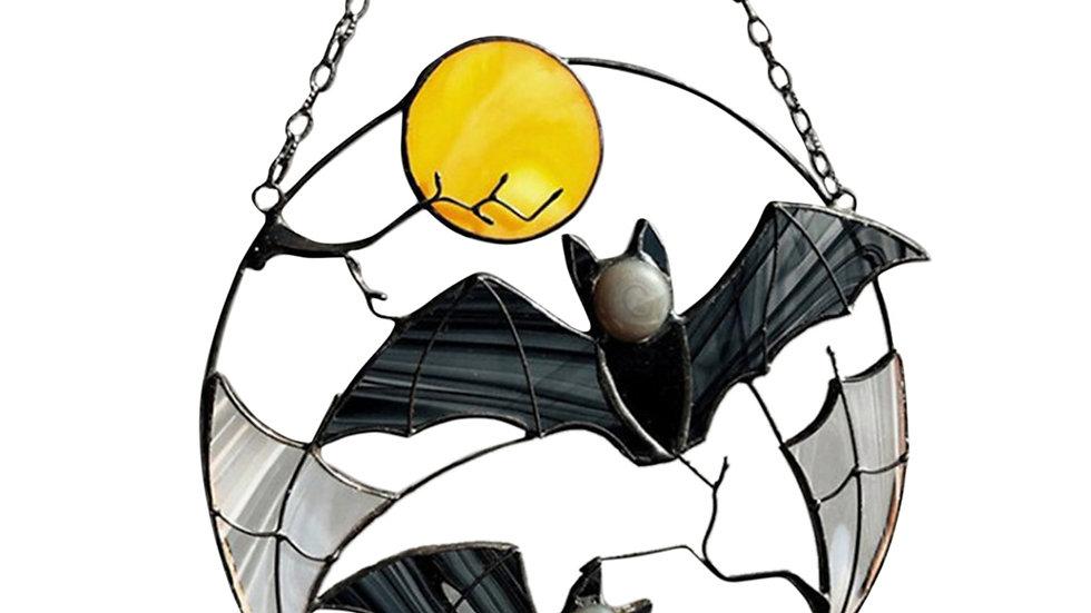 Bats and Moon Hanging Ornament