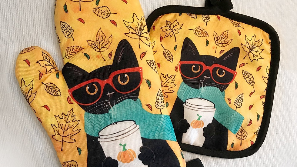 Cute Kitty Oven Mitts