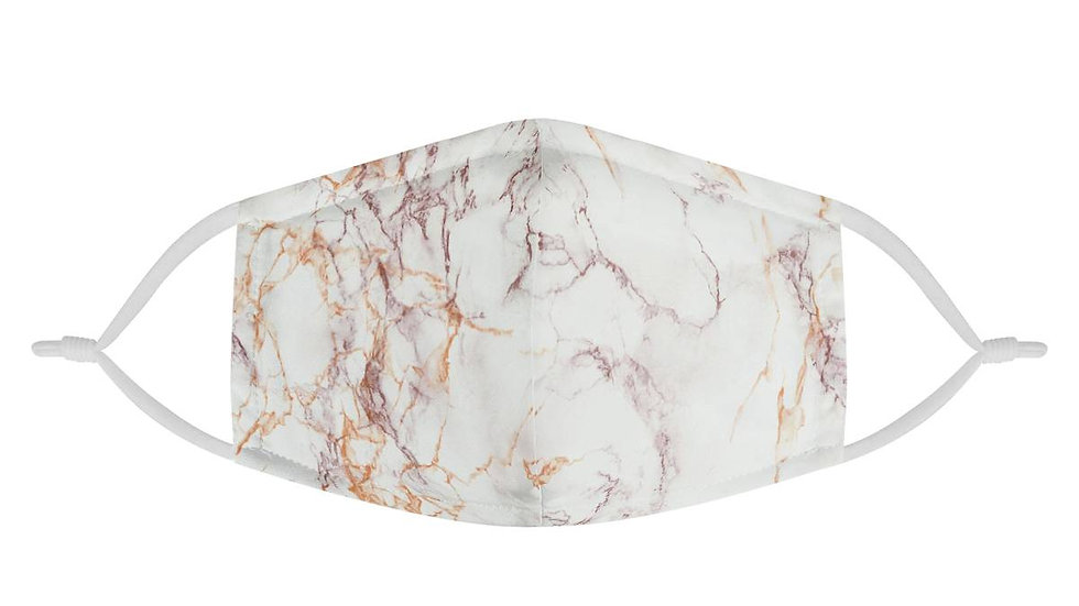 Rose Gold Marble Pattern Face Mask