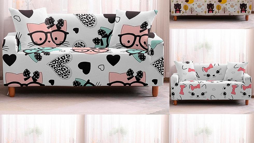 Cartoon Stretch Sofa Slipcover