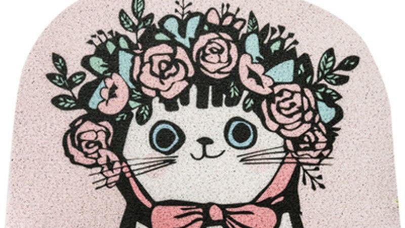Cat Cartoon Door Welcome Mat