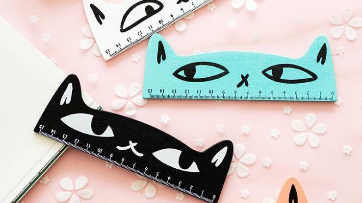 15cm Kitty Rulers