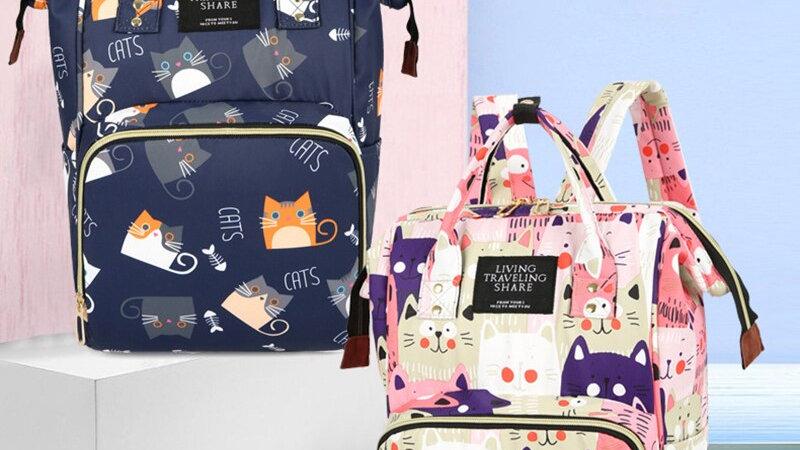 Cat Print Baby Supplies Bag
