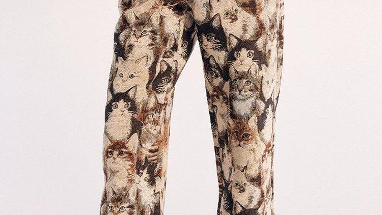 Wide-Leg Kitty Trousers