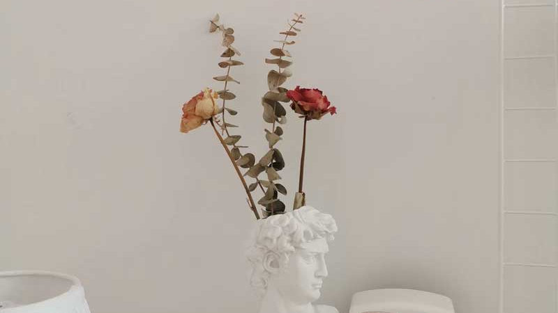 Human Head Portrait Vases