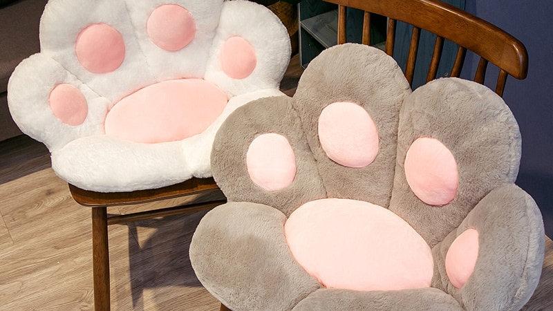 Plush Kitty Paw Pillows