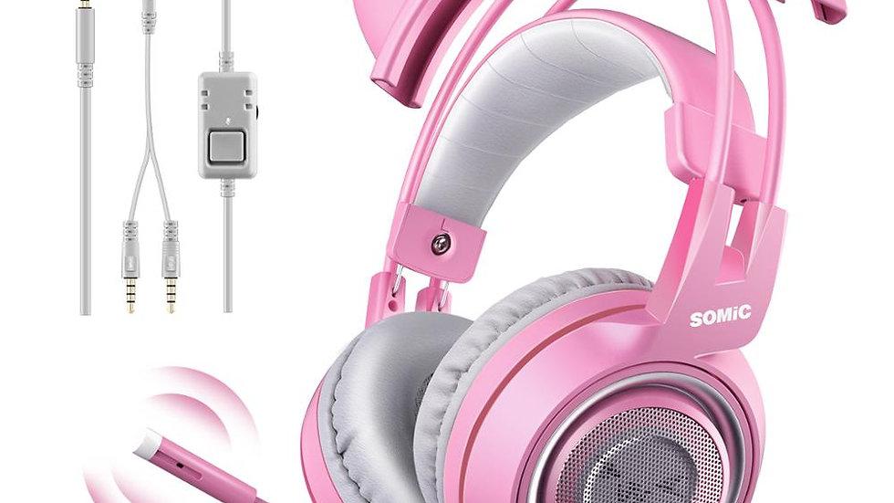 Pink Kitty Gaming Headset