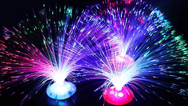 Colourful LED Fibreoptic Lamp