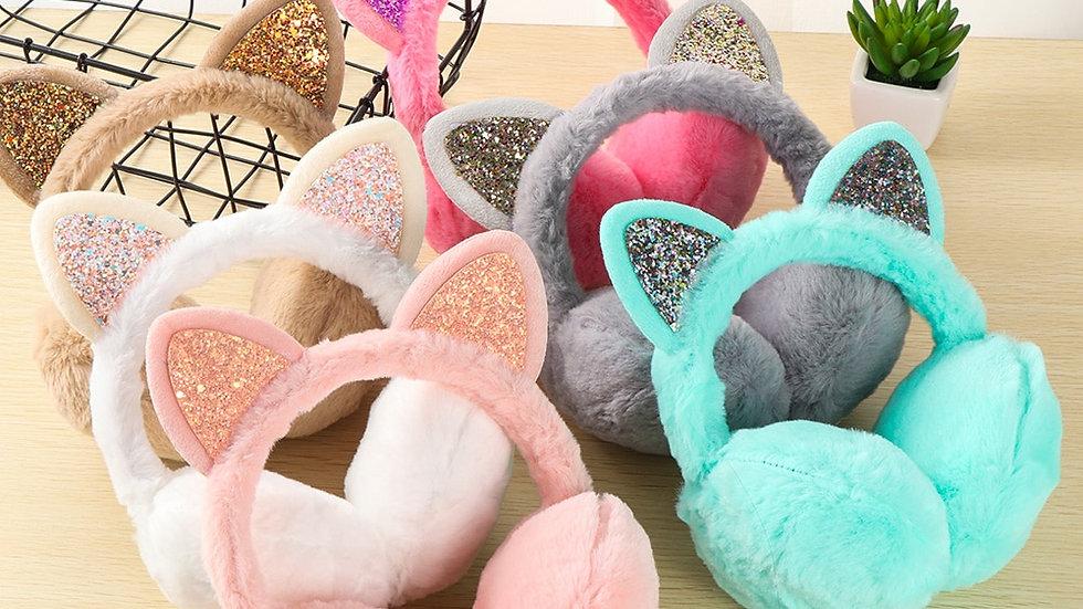 Warm Fluffy Feline Earmuffs