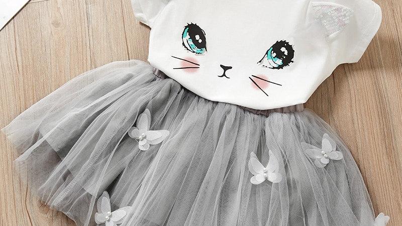 Cute Cartoon Cat Dresses
