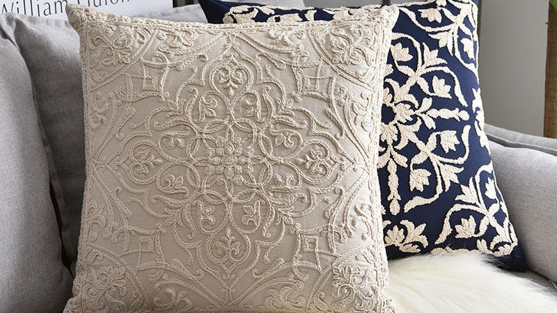 Cotton Embroidered Cushion Covers