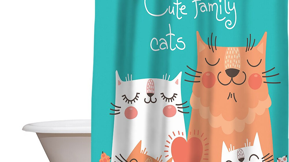 Mischievous Kitty Shower Curtain