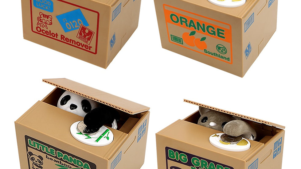 Panda Cat Money Saving Box