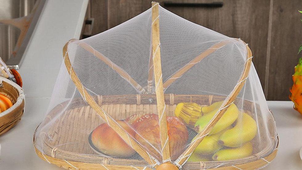 Bamboo Wicker Basket With Gauze