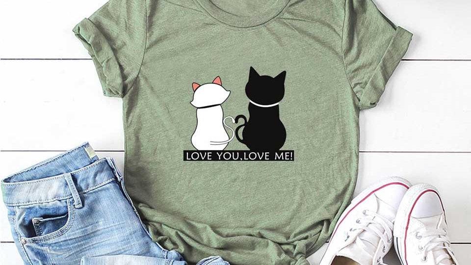 Women's Cat Print T-Shirts
