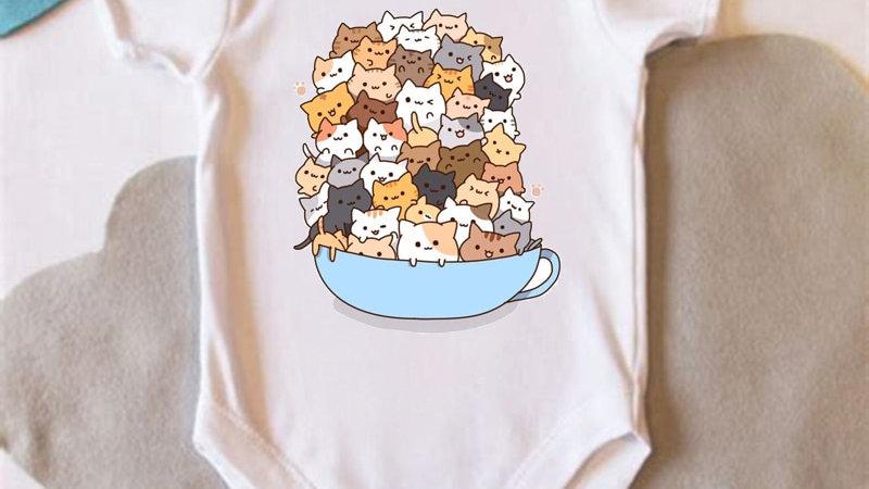 Baby Short Sleeve Cat Jumpsuit