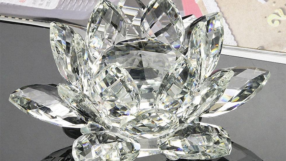 60mm-200mm Crystal Lotus Ornament