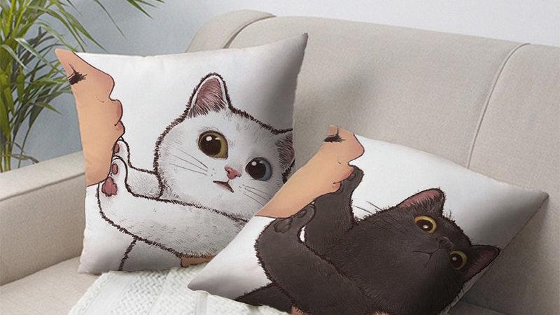 Decorative Cat Cshion Cover