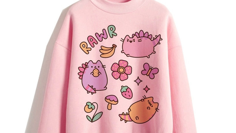 Cute Cat Oversized Sweatshirt
