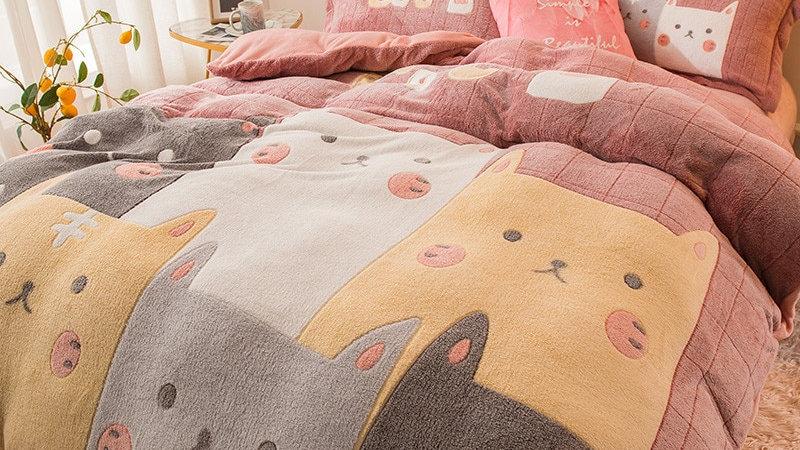 Fleece 4-Piece Bedding Set