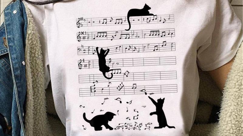 Funny Cartoon Kitty T-Shirt