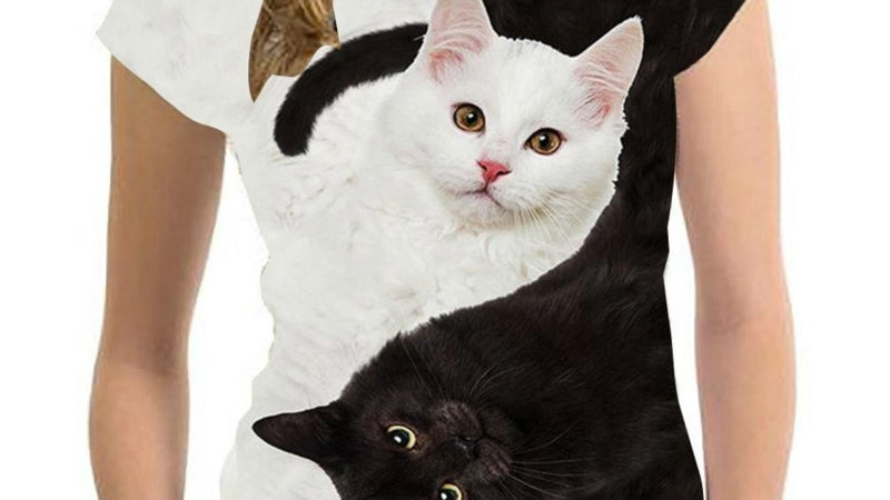 Unisex Cat Print T-shirts