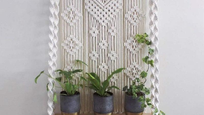 Boho Chic Macrame Wall Tapestry