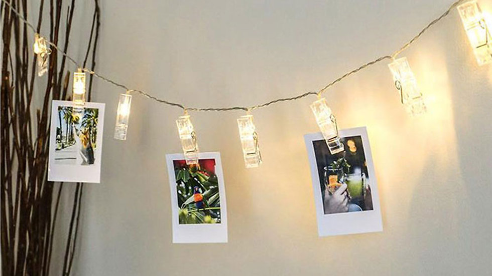 LED String Lights with Clips