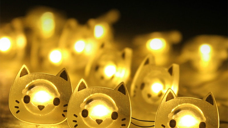 Cat Shape 20 LED Fairy Lights
