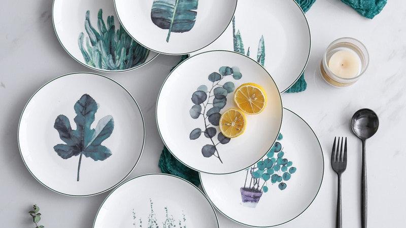 4pcs Porcelain Dinner Plates