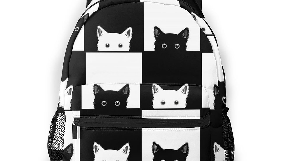 Cat Chess Board Backpack